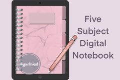 Pretty Pink Five Subject Digital Notebook Product Image 1