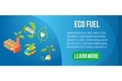 Eco fuel concept banner, isometric style Product Image 1