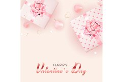 Valentine's Day Background Template Card Design Product Image 5