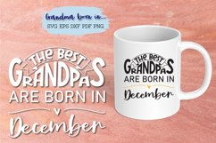 The best grandpas are born in December design Product Image 4