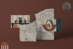 Abstract modern geometric faces. Patterns and graphics Product Image 5