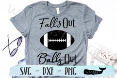 Fall's Out Balls Out, Football, Sports Team SVG Product Image 1