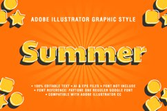 5 Summer Text Effect Graphic Styles Vector Product Image 5