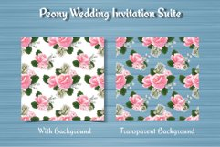 Peony Floral Wedding Invitation Suite Product Image 5