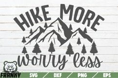 Hike more worry less SVG   Printable cut file Product Image 1