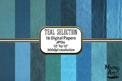 Teal Selection - 16 Digital Papers/Backgrounds Product Image 1