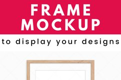 Wood Frame Mockup - Poster Mockup for Wall Art Digital Frame Product Image 2