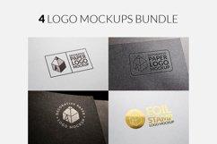 4 Logo Mockups Bundle Product Image 1