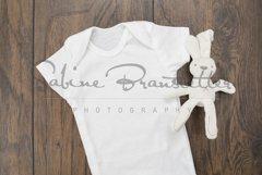 Styled Stock Photography Unisex White Baby Bodysuit Mockup Product Image 1