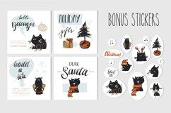 Christmas Black Cat Product Image 2