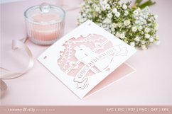 Congratulations Wedding Card SVG for Cricut and Silhouette Product Image 3