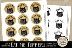 Alice in Wonderland Cheshire Cat Printable Cake Toppers Product Image 2