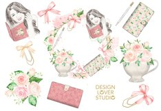 Watercolor Planner Girl design Product Image 2