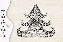 Christmas tree SVG. Merry Christmas Svg. Zentangle clipart. Product Image 5