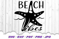 Beach Vibes Starfish SVG DXF Cut Files Product Image 2