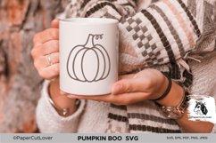 Plaid Pumpkin SVG Pumpkin Boo SVG Pumpkin Outline Checkered Product Image 3