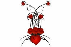 Red roses with heart. Product Image 2