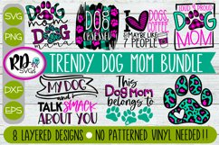 Trendy Dog Mom Bundle - Set of Layered Cricut SVG Cut Files Product Image 1