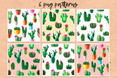 Watercolor Cactus. Cacti Patterns Product Image 4
