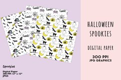 Halloween Digital Paper Set, Spookies Pastel Halloween paper Product Image 5