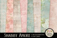 Digital Scrapbook Kit - Shabby Floral Scrapbooking Clipart Product Image 2