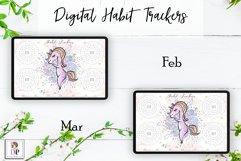 Digital Habit Trackers Y7 Yoga Series for Planner PRINTABLE Product Image 3