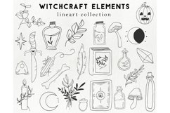 25 witchcraft elements - boho, magic, halloween clipart Product Image 1