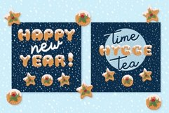 Xmas cartoon cookie font family Product Image 6