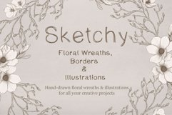 Sketchy Floral Wreaths & Borders Product Image 1