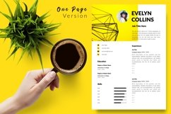 Modern Resume CV Template for Word & Pages Evelyn Collins Product Image 2