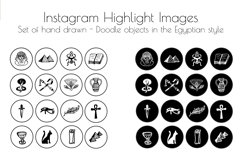 Hand drawn Watercolor Instagram Highlight icons travel cover Product Image 3