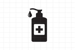 Hand sanitizer icon, SVG, PNG, EPS, AI Product Image 1