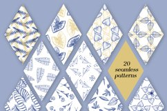 Elegant floral seamless patterns and hand drawn elements Product Image 2