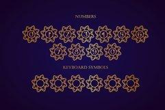 Swirly Mandala Monogram Font Product Image 6
