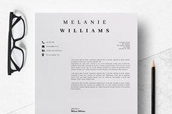 Resume Template Minimalist | CV Template Word - Melanie Product Image 4