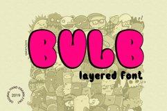 Bulb Layered Font Product Image 1
