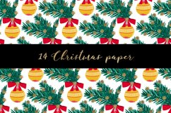 Christmas digital paper pattern Product Image 4