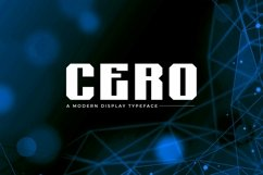 Web Font Cero - Modern Display Typeface Product Image 1