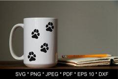 Dog paw SVG. Paw print SVG. Paw print love Product Image 4