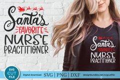 Christmas Nurse Practitioner svg -Santa's favorite np svg Product Image 1