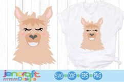 llama face svg, alpaca svg, llama bundle svg, Eyelashes Head Product Image 3