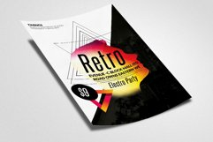 Retro Party Flyer Template Product Image 3