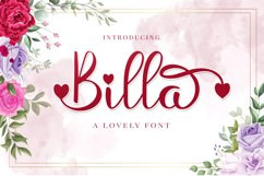 Billa - A Lovely Font Product Image 1