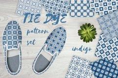 Tie dye pattern blue | Indigo Japanese shibori | 40 elements Product Image 4