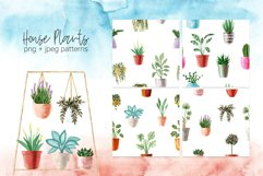 Watercolor House Plants Patterns Product Image 3