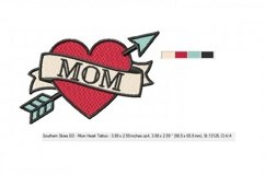Happy Mother's Day Mom Tattoo - 4 x 4 hoop Product Image 2