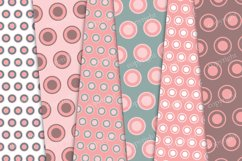 Red and green pastel circles digital background Product Image 2