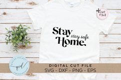 Stay Home Stay Safe, Social Distancing SVG, EPS, PNG, DXF Product Image 1