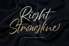 Right Strongline - a Signature Font Product Image 1