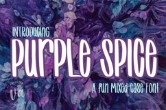 Purple Spice | A Fun Mixed Case Font Product Image 1